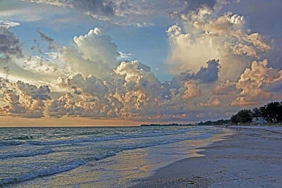 Poster featuring the photograph Beach Walk by HH Photography of Florida