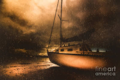 Beached Sailing Boat Poster by Jorgo Photography - Wall Art Gallery