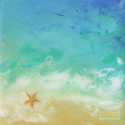 Beached Starfish Poster