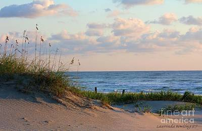 Beaches Of Outer Banks Nc Poster by Laurinda Bowling