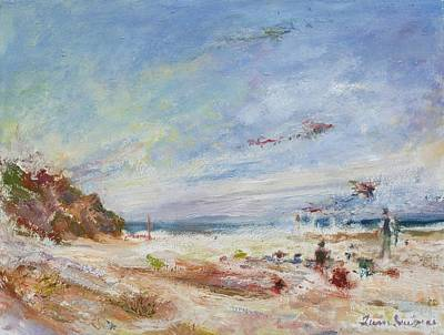 Beachy Day - Impressionist Painting - Original Contemporary Poster