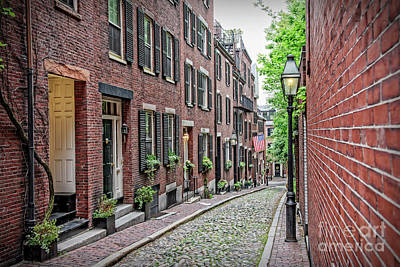 Beacon Hill - Acorn Street Poster by Charles Dobbs