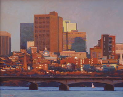 Beacon Hill Sunset Poster by Dianne Panarelli Miller