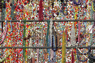 Beads In A Window Poster