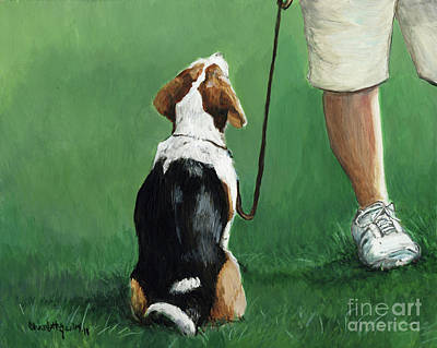 Beagle Sit Poster by Charlotte Yealey