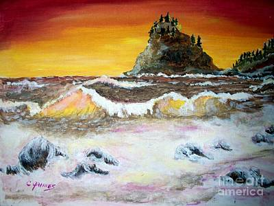 Poster featuring the painting Beaitiful Breakers by Carol Grimes