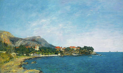 Poster featuring the painting Bealieu - The Bay Of Fourmis by Eugene Boudin
