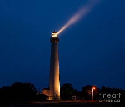 Poster featuring the photograph Beam Of Light At Cape May by Nick Zelinsky
