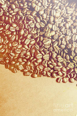 Bean Background With Coffee Space Poster by Jorgo Photography - Wall Art Gallery