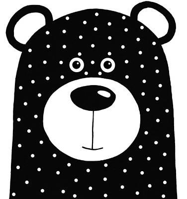 Bean Bear Poster by Lucia Stewart