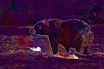 Bear Adult Portrait Wildlife  Poster