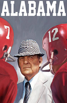 Bear Bryant Poster by Mark Spears