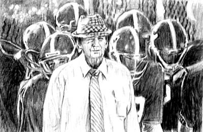Bear Bryant With Players  Poster by Hae Kim