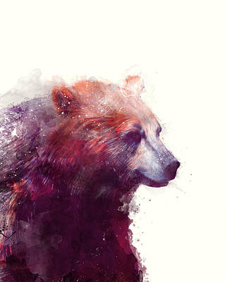 Bear // Calm Poster by Amy Hamilton
