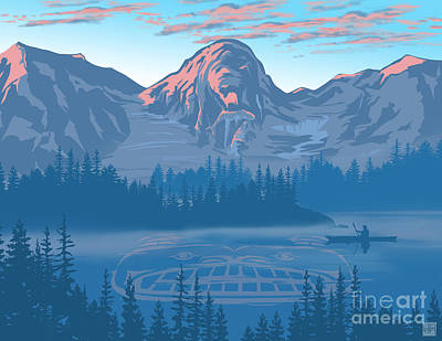 Bear Country Scenic Landscape Poster by Sassan Filsoof