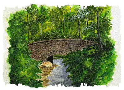 Bear Creek Bridge - Mill Creek Park Poster by Michael Vigliotti
