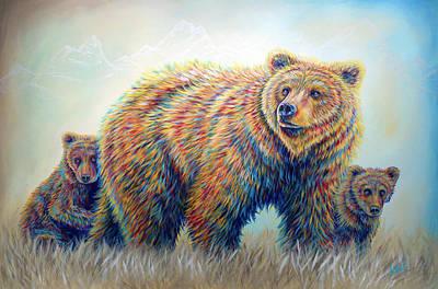 Bear Heaven Poster by Teshia Art