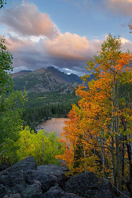 Poster featuring the photograph Bear Lake Autumn by Aaron Spong