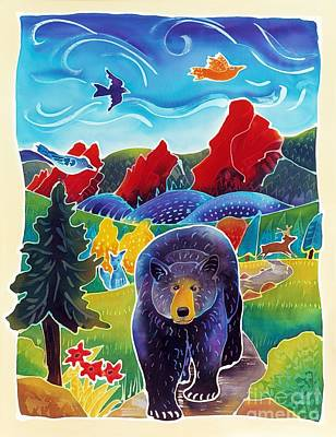 Bear On The Trail Poster