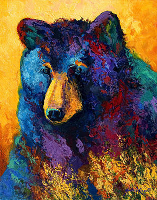 Bear Pause - Black Bear Poster by Marion Rose