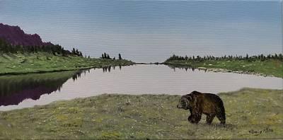Bear Reflecting Poster