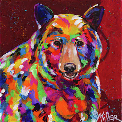 Bear Smile Poster by Tracy Miller
