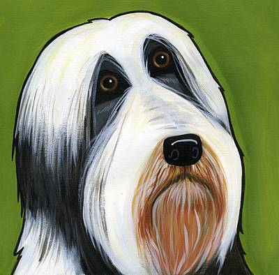 Bearded Collie Poster by Leanne Wilkes