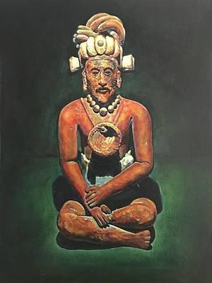 Bearded Mayan Man Relic Campeche, Jaina Island, Mexico - 600-900 Ad Poster