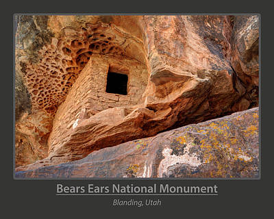 Bears Ears National Monument - Anasazi Ruin Poster by Gary Whitton