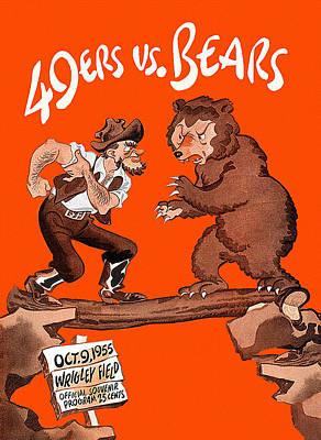 Bears V 49ers 1955 Program Poster by Big 88 Artworks