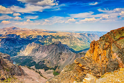 Poster featuring the photograph Beartooth Highway Scenic View by John M Bailey