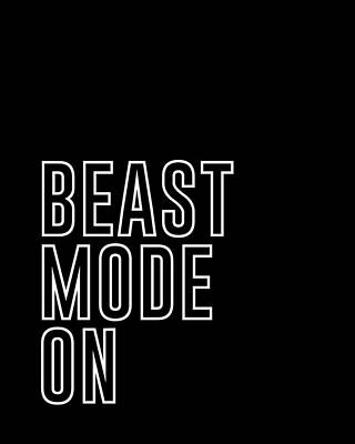 Beast Mode On - Gym Quotes - Minimalist Print - Typography - Quote Poster Poster