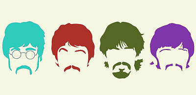 Beatles Poster by Elizabeth Coats