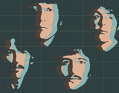 Beatles Pop Art Tiles Poster