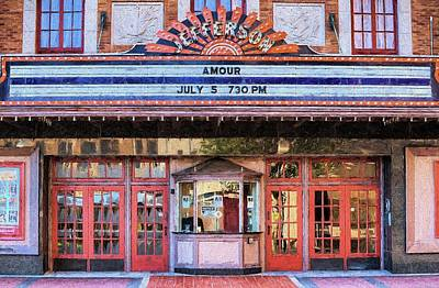 Poster featuring the digital art Beaumont Jefferson Theater by JC Findley