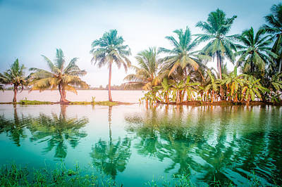Beautiful Backwater Kerala, India. Poster by Art Spectrum