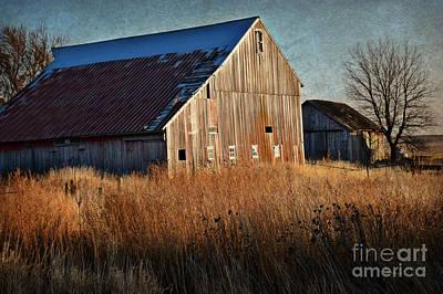 Beautiful Barn In Autumn  Poster