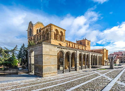 Beautiful Basilica De San Vicente, Avila, Castilla Y Leon, Spain Poster by JR Photography