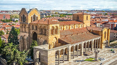 Beautiful Basilica De San Vicente In Avila Poster by JR Photography