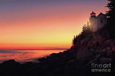 Beautiful Bass Harbor Lighthouse Poster