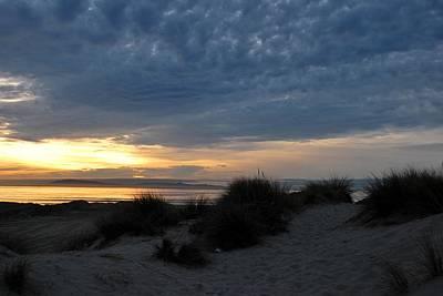Beautiful Beach San Dunes Sunset And Clouds Poster