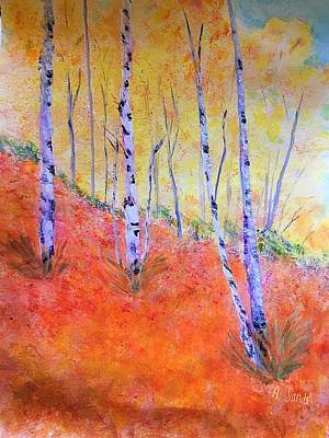 Beautiful Birches Poster