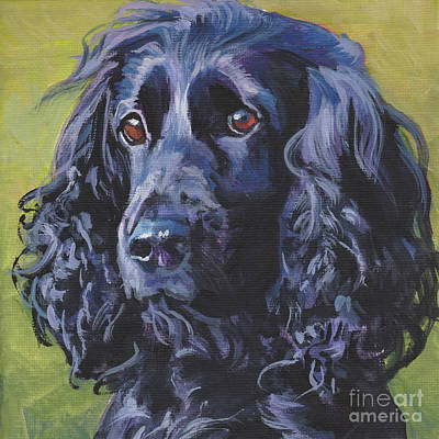 Poster featuring the painting Beautiful Black English Cocker Spaniel by Lee Ann Shepard