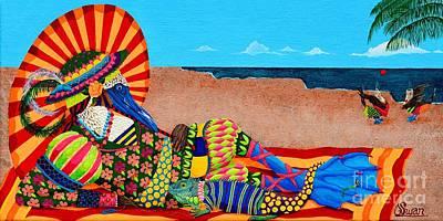 Beautiful Blue Boobies Poster by KJ Swan