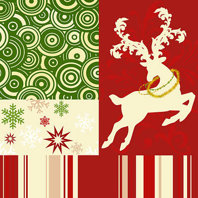 Modern Christmas II Modern Holiday Art Series Poster by Tina Lavoie
