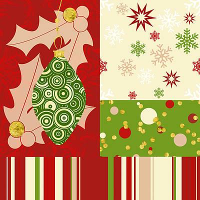 Modern Christmas Modern Holiday Art Poster