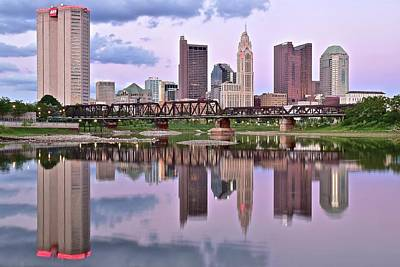 Beautiful Columbus Sunset Poster by Frozen in Time Fine Art Photography