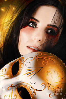Beautiful Female Performer Face. Perfect Makeup Poster by Jorgo Photography - Wall Art Gallery