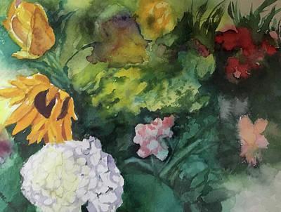 Beautiful Floral Jumble Poster