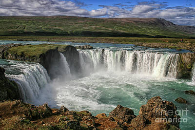 Beautiful Godafoss Waterfall In Iceland Poster